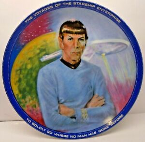 """1983 Star Trek Collector Plate """"Mr. Spock"""" Plate Number 4776E by Susan Morton"""