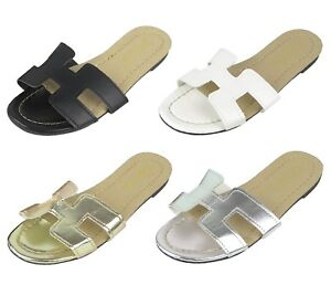 b1519e0c6 Women's Summer Flats Sandals Slides Slipper Shoes Sizes 36-40 New | eBay