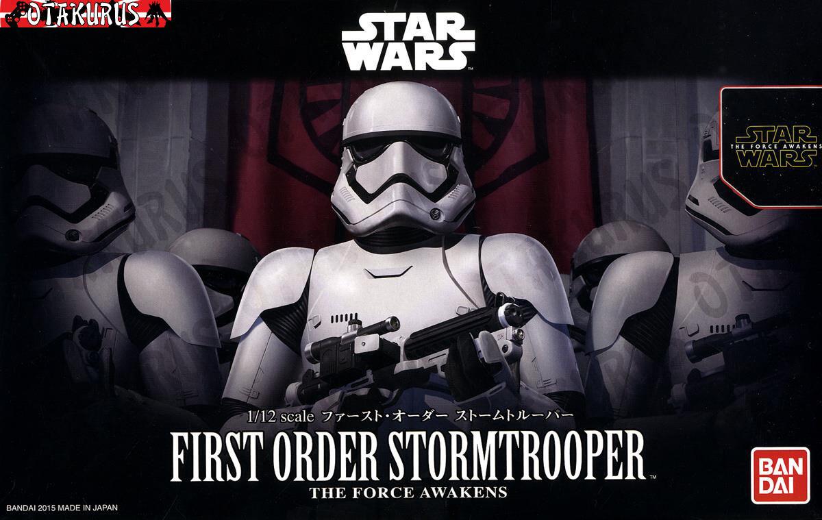 First Order Storm Trooper Star Wars The Force Awakens 1 12 Model Bandai