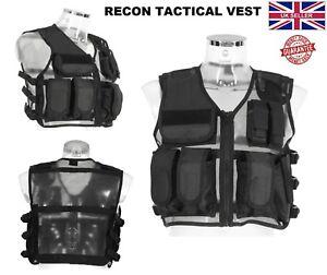 Neuf Recon Veste tactique militaire Airsoft mag pouch Combat Assault Chasse Gilets-afficher le titre d`origine rFCdFFYt-07150558-746232639