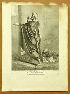 Habillement Des Africain Du Nord Planche Gravure Estampe De J.b. Scotin 1714 Service Durable