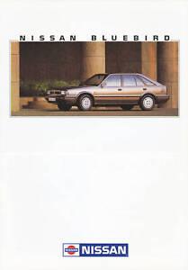 Nissan-Bluebird-Prospekt-11-88-brochure-1988-Autoprospekt-Broschuere-brosjyre-Pkw