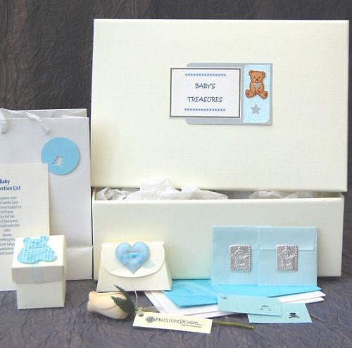 // PERSONALISED MX5 LARGE Baby Boy Keepsake Box extras
