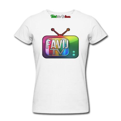 Favij t-shirt logo maglietta youtuber favi j tv maglia felpa bambino uomo donna