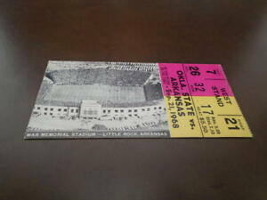 1968 OKLAHOMA STATE AT ARKANSAS COLLEGE FOOTBALL TICKET ...