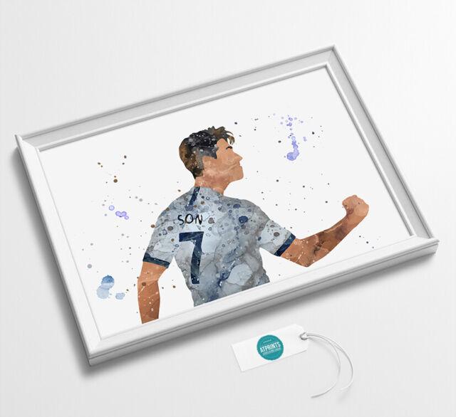 Tottenham Hotspur Son Heung-min 18//19 Framed Print 30x40cm Spurs