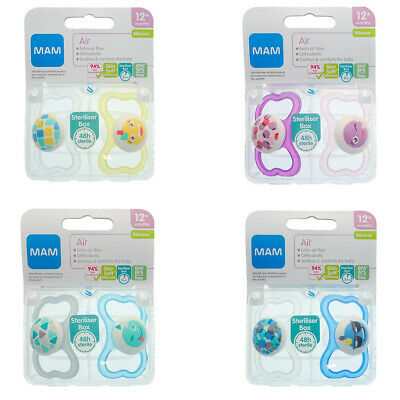 Moon /& Stars 12m+ MAM Night Latex Soother Twin Pack