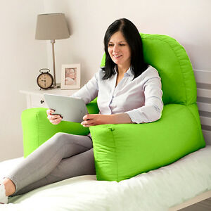 Image Is Loading Lime Cotton Chloe Bed Reading Pillow Bean Bag