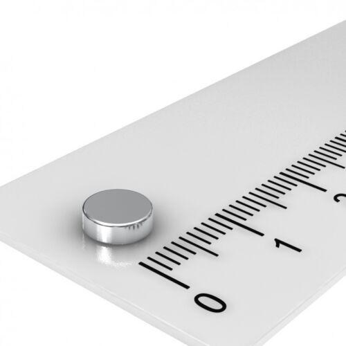 100 STÜCK POWER SCHEIBEN MAGNETE 6x2mm N52 VERNICKELT MAGNET BESTPREIS