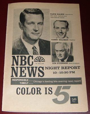 1966 NBC TV AD~FLOYD KALBER~HARRY VOLKMAN~LEN O'CONNER~CHICAGO NEWS   eBay