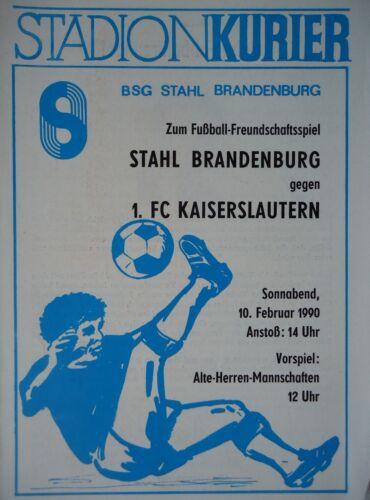FC Kaiserslautern Programm 10.2.1990 Stahl Brandenburg