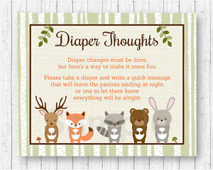 photograph relating to Late Night Diaper Messages Free Printable called Facts above Woodland Pets Diaper Mind Late Evening Diaper Youngster Shower Activity