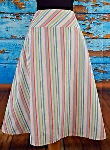 Gonna taglia misto a 10 casual cotone colorate righe in 148 donna Lafayette divertente da T5wIqqR