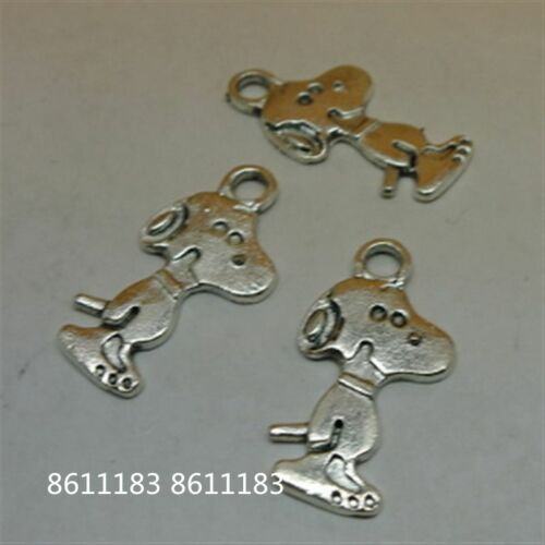 15pc Tibetan Silver Animal DOG Pendant Charms Beads Jewellery Craft  GP737