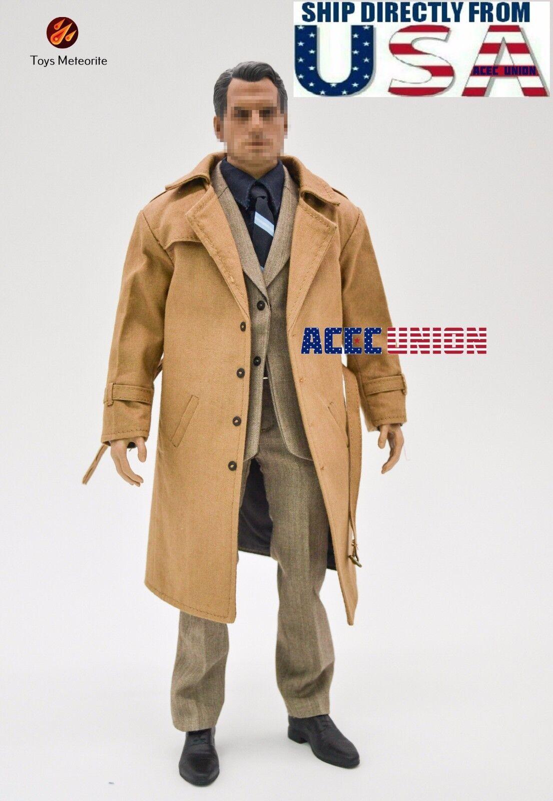 1 6 Clark Kent SUPERMAN Suit Overcoat Set For Hot Toys Phicen Muscular Figure