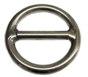STAINLESS STEEL ROUND O RING WITH CENTRE BAR WEBBING ROPE MOORING 8mmx50mm
