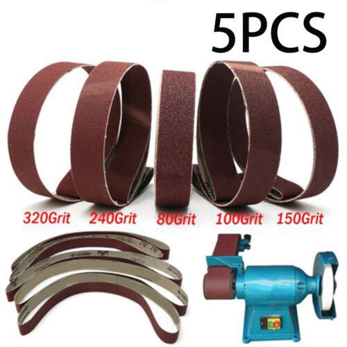 5 Schleifbänder 762 X 25 Mm MIX Korn 80-320 Schleifband Schleifpapier Schleifen