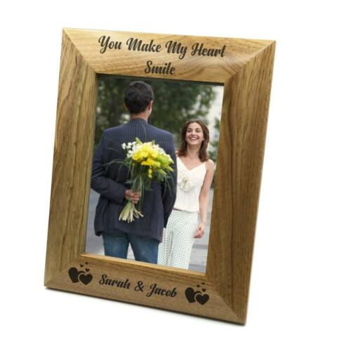 You Make My Heart Smile Personalised Love Photo Frame Gift FW47