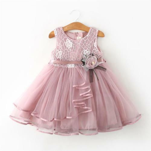 Ready to Ship From Ohio Free Shipping S-1088M Mauve Tulle Dress w//Flower