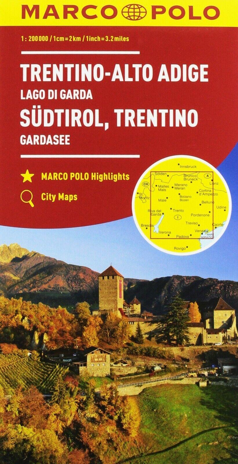 Cartina Stradale Del Trentino Alto Adige.Trentino Alto Adige Cartina Stradale Regionale 1 200 000 Mappa Carta Ebay