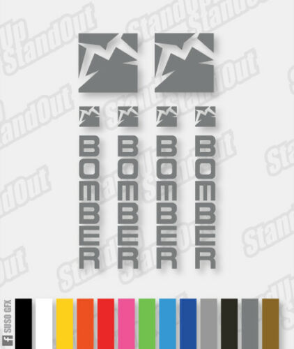 Stickers HORIZONTAL Marzocchi Bomber Decals Fluorescent Colours Custom