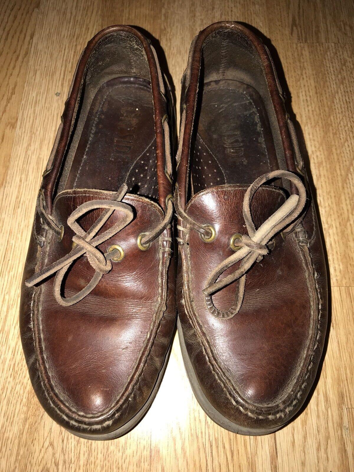 SHOES PORTSIDE SIZE  Leather MEN's BROWN SIZE PORTSIDE EU 014dcb