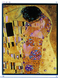 Ebay Stained Glass Panels.Details About Glassmasters Klimt The Kiss Romantic Stained Glass Panel Suncatcher New
