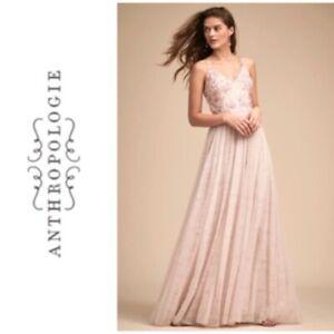 Bridesmaid-Wedding-Pink-CLUNY-DRESS-Adrianna-Papell-BHLDN-Anthropologie-size-6