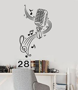 Image Is Loading Music Wall Decal Microphone Singer Notes Music Karaoke