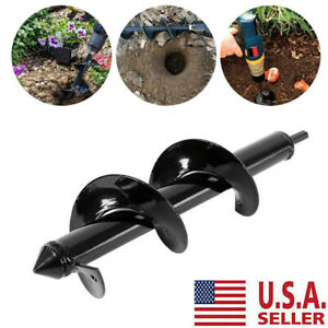 12-034-Earth-Auger-Drill-Bit-Replacement-Electric-Garden-Planting-Auger-Spiral-US