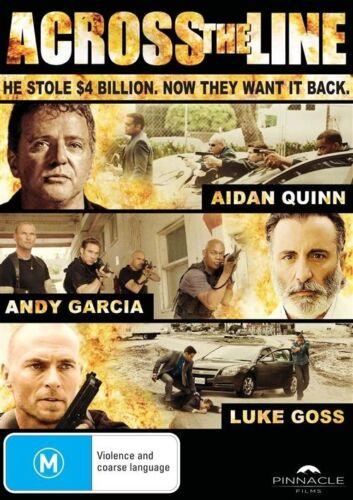 1 of 1 - ACROSS THE LINE DVD Aidan Quinn Andy Garcia Luke Goss CRIME THRILLER (Sealed) R4