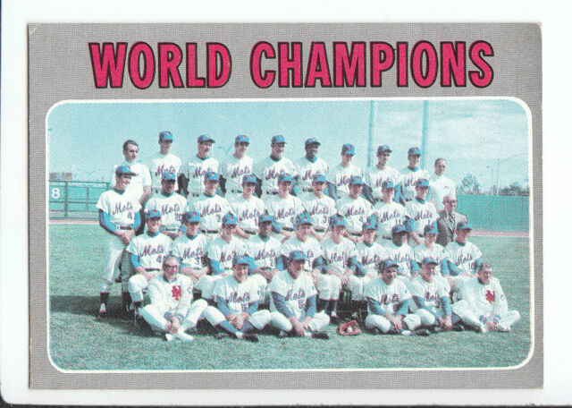 1970 Topps Baseball World Champions (Mets Team) #1 EX/MT+