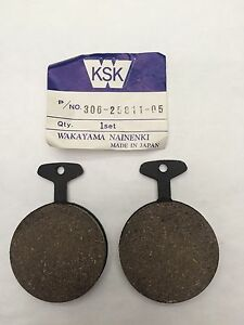 YAMAHA RD400 C REAR BRAKE PADS 1976 AND 1977