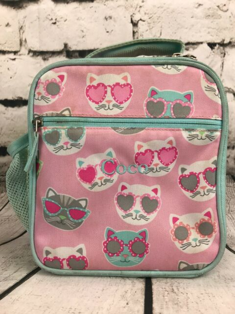 Pottery Barn Kids Mackenzie Pink Blue Cool Cat Lunch Box