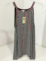 Max Studio Casual Tank Top Polka Dot W/red Accents Md $68