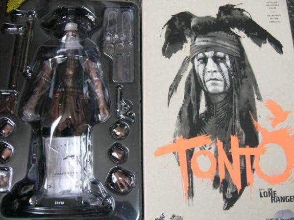 Hot Toys The Lone Lone Lone Ranger TONTO Johnny Depp Figure 1/6 Scale 46d3a5