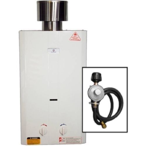 Outdoor Tankless Hot Water Heater Propane On Demand Instant Broiler Camping RV