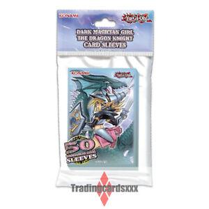 Yu-Gi-Oh! 50 Protèges Cartes SMALL Dark Magician Girl the Dragon Knight Sleeves