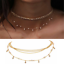 Multilayer-Choker-Necklace-Crystal-Star-Chain-Gold-Women-Fashion-Jewelry-Newly thumbnail 2