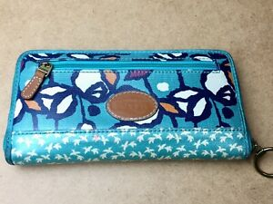 Fossil-Authentic-Zip-Around-Multi-function-Clutch-Wallet