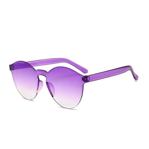 Women Men Clear Retro Sunglasses Outdoor Frameless Eyewear Glasses Beach Party