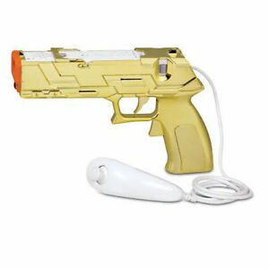 NEW-Loose-Gold-Quick-Shot-Plus-Gun-for-Shooting-Games-for-Nintendo-Wii-Wii-U