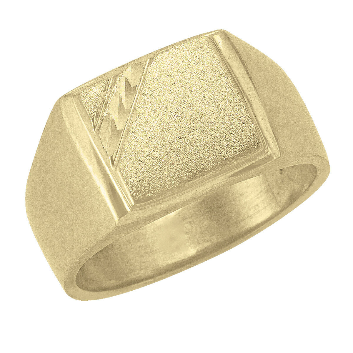 10k Yellow gold square flat top Signet Ring (new, weight 7.41)
