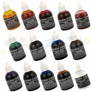 Sugarflair-AIRBRUSH-COLOUR-set-of-14-Edible-food-colouring-for-airbrushing