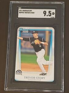 2011-Bowman-Draft-Trevor-Story-RC-Rookie-SGC-9-5-Tough-Black-Border-PSA