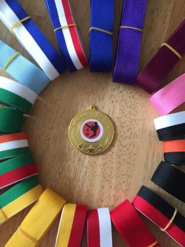 Jiu jitsu  Medal 10x Martial arts 50mm Choice of ribbons  Great value!!