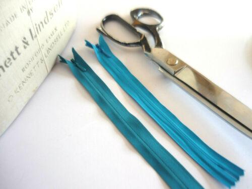 20 cm TURQUOISE Invisable Dissimulée Fermeture Éclair Zipper Homme Qualité environ 20.32 cm 1 x YKK 8 in