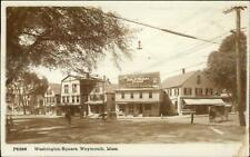 Weymouth MA Washington Square Visible Stores c1910 Real Photo Postcard