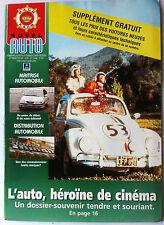 Auto Royal Club Belgique N°9 de 2001; L'Auto, héroïne de cinéma/ Distribution