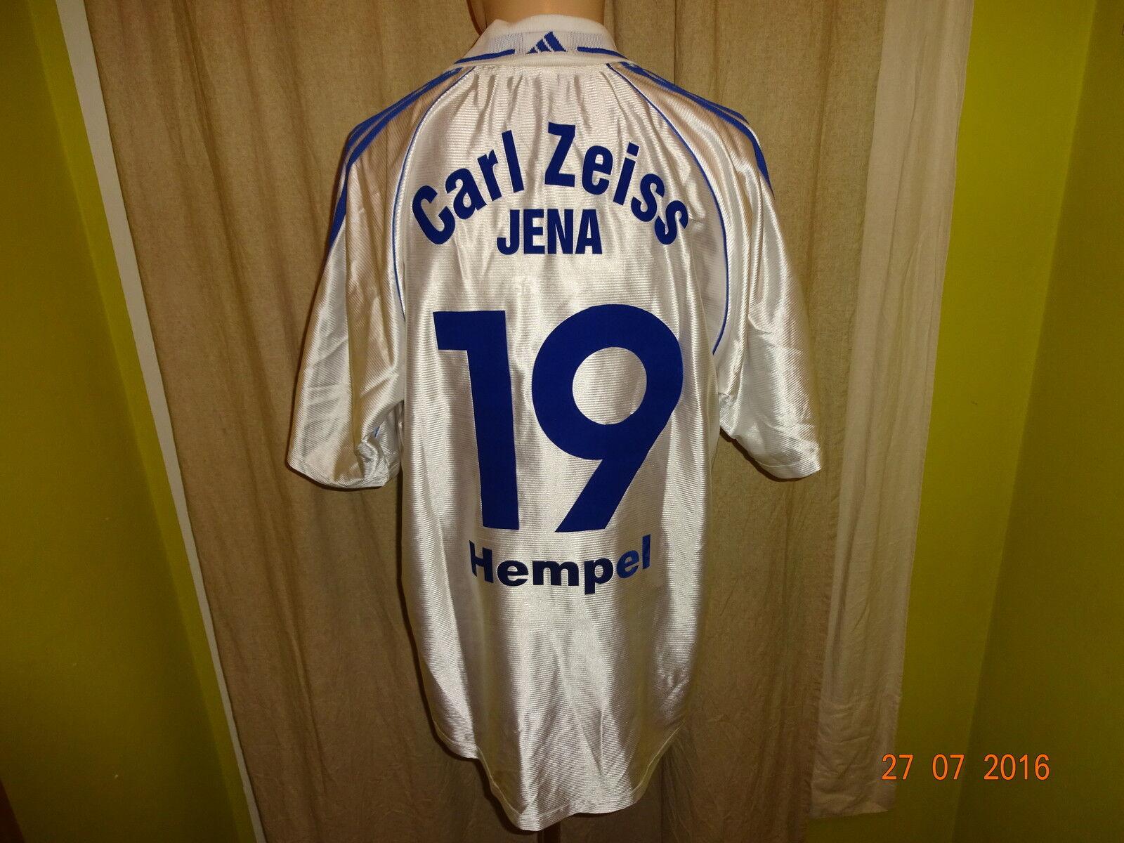 FC Carl Zeiss Jena Adidas U19 Matchworn Trikot 2000 01 + Nr.19 Hempel Gr.L- XL  | Mangelware